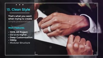 Simple Presentation Slideshow: After Effects Templates