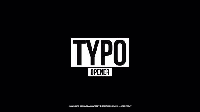 Creative Typography Opener: Premiere Pro Templates