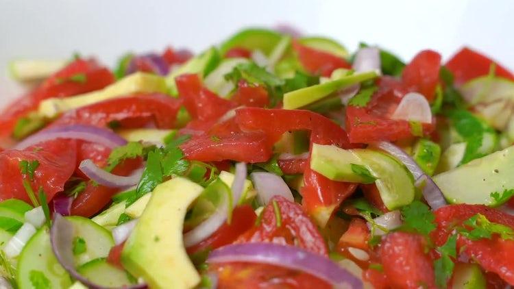 Fresh Salad: Stock Video