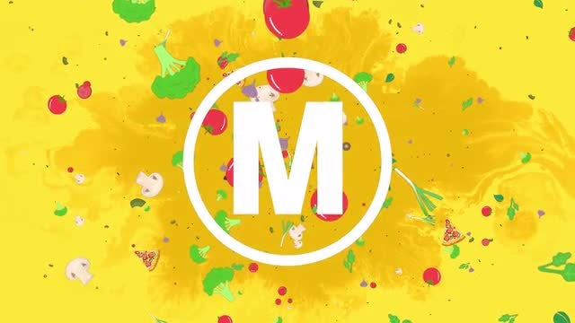 Food Logo: DaVinci Resolve Templates