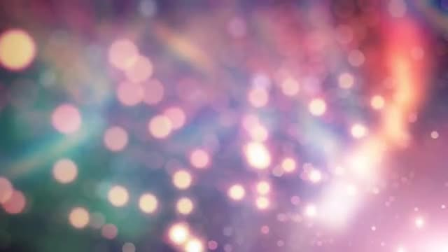 Iridescent Bokeh Lights: Stock Motion Graphics