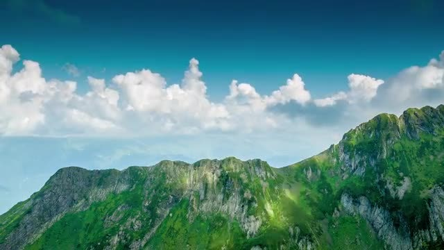 Clouds And Mountains: Stock Video