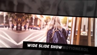 Wide Slide Show: After Effects Templates