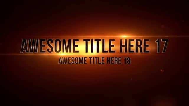 Epic Titles: After Effects Templates