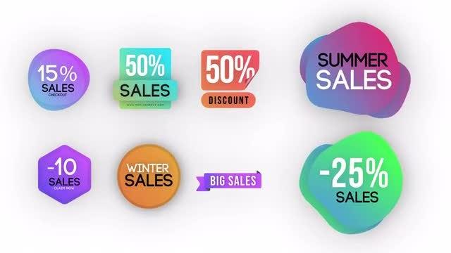Trendy Sales Badges Pack V2: Motion Graphics Templates