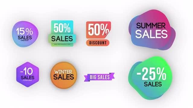 Trendy Sales Badges Pack V2: After Effects Templates