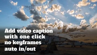 Video Caption Presets: After Effects Templates