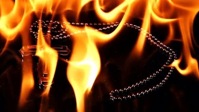 Cross On Fire: Stock Video