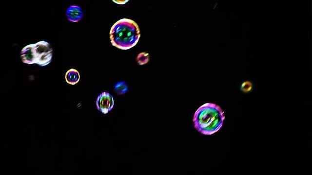 Colorful Soap Bubbles: Stock Video