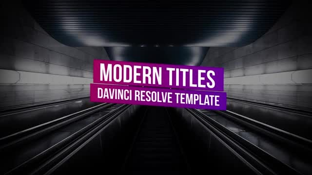 Modern Titles: DaVinci Resolve Templates