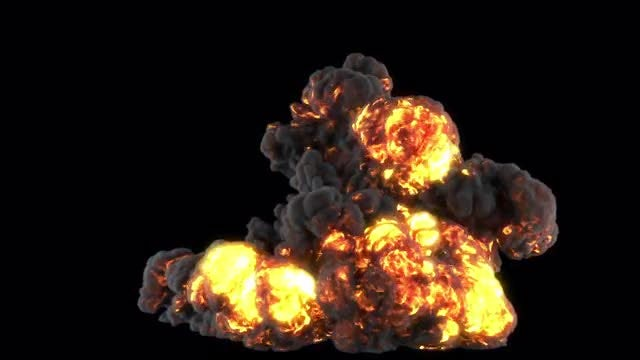 Giant Puffy Explosion: Stock Motion Graphics