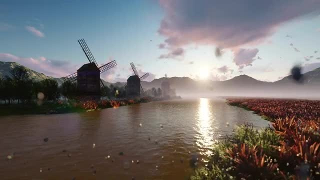 Traditional Windmills: Stock Motion Graphics