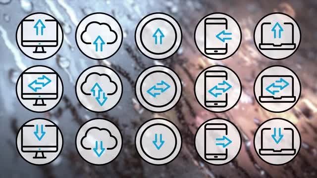 Data Transfer Icons Pack: Stock Motion Graphics