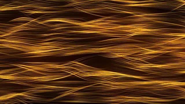 Golden Strands Lighting Up: Stock Motion Graphics
