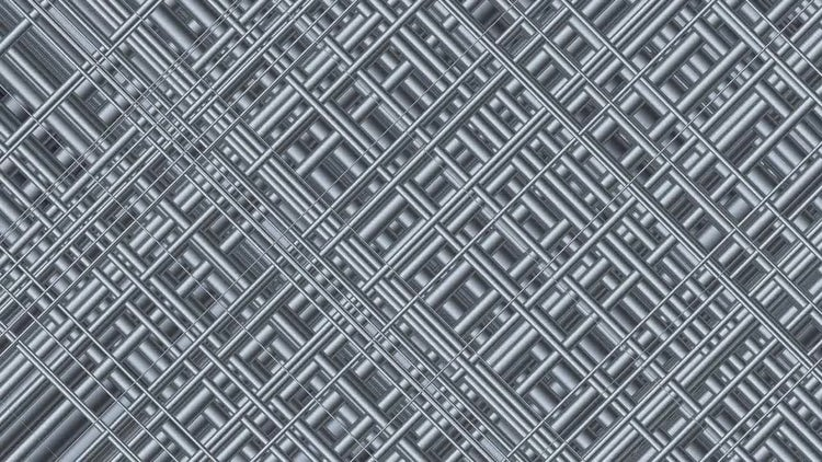 Metallic Platinum Grid 4K: Stock Motion Graphics