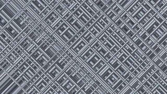 Metallic Platinum Grid 4K: Stock Motion Graphics