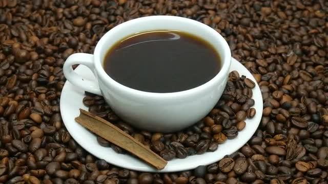 Hot Coffee With Cinnamon: Stock Video