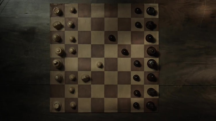 Light Over Chess Board: Stock Video