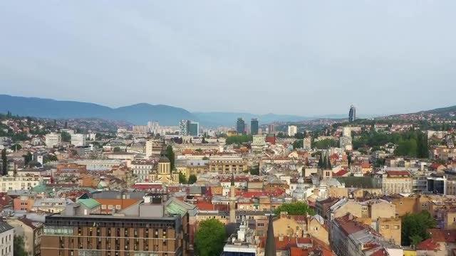 Aerial View Of Sarajevo: Stock Video