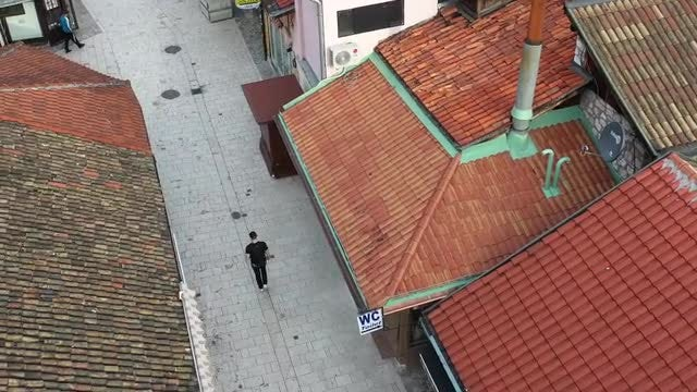 Aerial View Of A Tourist: Stock Video