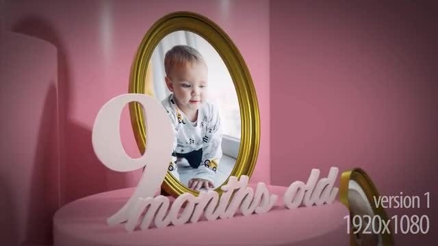 Baby 3D Album Boy And Girl: After Effects Templates