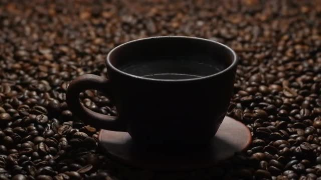 Steaming Hot Black Coffee: Stock Video
