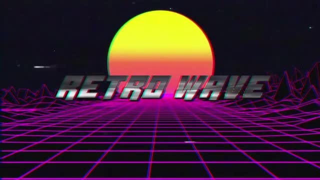 Retro Wave Title: After Effects Templates