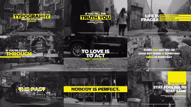 Creative Typography Pack: After Effects Templates