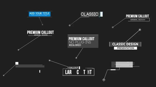Callout Pack: After Effects Templates