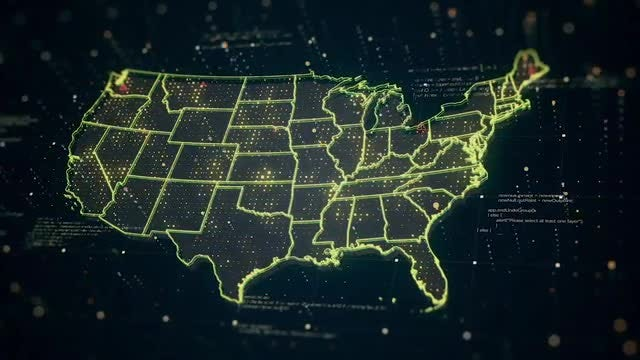 USA Map Pack: Stock Motion Graphics