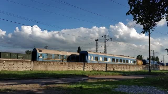 Time-Lapse Of Train Cars: Stock Video