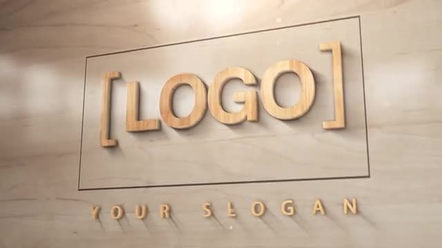 3D Wood Logo: After Effects Templates