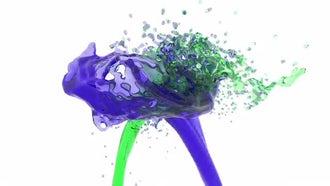 Liquid Stream Splash: Motion Graphics