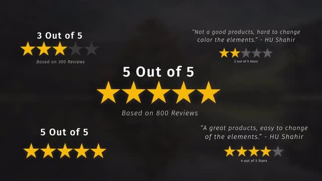 Rating Stars Pack: Motion Graphics Templates