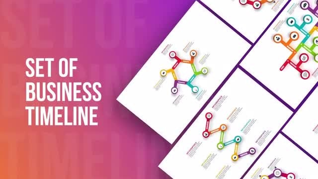 Set Of Business Infographics Timeline: After Effects Templates