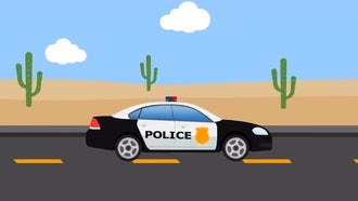 Police Car: Stock Motion Graphics