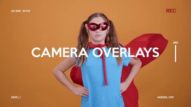 Camera Screen Overlays: Premiere Rush Templates