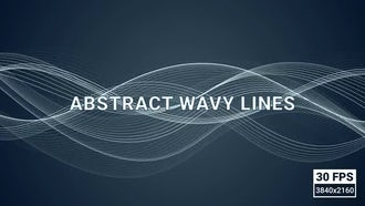 Looped Abstract Wavy Lines: Motion Graphics