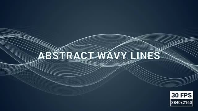 Looped Abstract Wavy Lines: Stock Motion Graphics