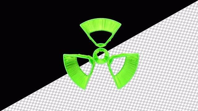 Liquid Radiation Sign: Stock Motion Graphics