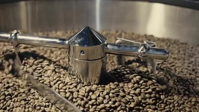 Coffee Being Roasted: Stock Video