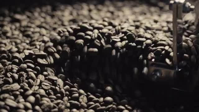 Roasting Coffee Close-Up: Stock Video