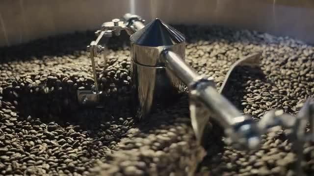 Roasting Coffee Mechanism: Stock Video
