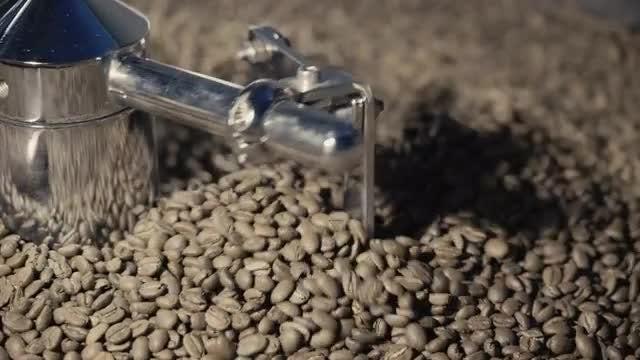 Coffee In Roaster: Stock Video