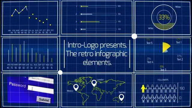 Retro Infographic Elements: After Effects Templates