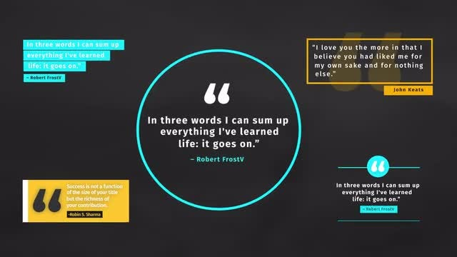 Clean Quote Titles V2: Motion Graphics Templates