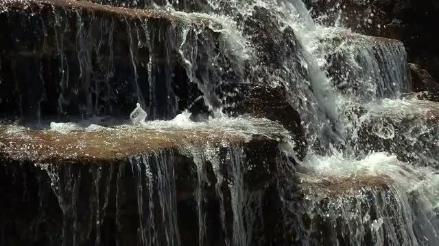 Waterfall Flow Slow Motion: Stock Video