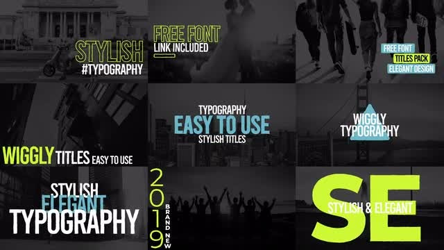 Wiggly Titles Pack V7: After Effects Templates