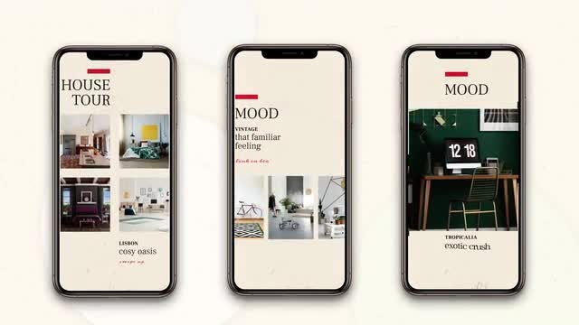 Instagram Stories: Home Decor: After Effects Templates