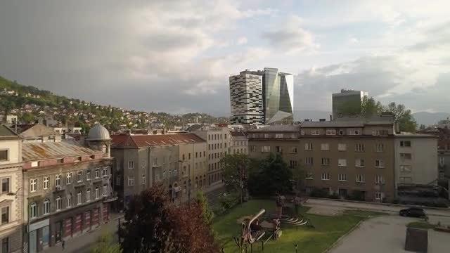 City Of Sarajevo Aerial: Stock Video